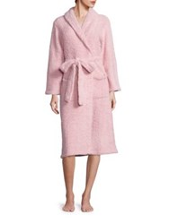 Barefoot Dreams Cozychic Heathered Robe Dusty Rose White