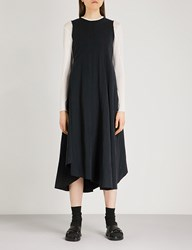 Song For The Mute Washed Gabardine Midi Dress Navy