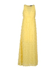 La Camicia Bianca Long Dresses Yellow