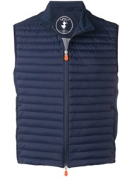Save The Duck Padded Waistcoat Blue