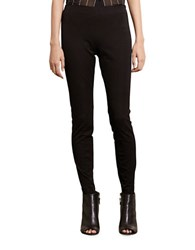 Lauren Ralph Lauren Petite Stretch Cotton Skinny Pants Black