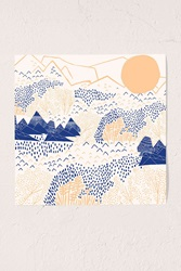 Urban Outfitters Leah Duncan Mountain Blossom Art Print No Frame