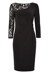 Roman Originals Lace Shoulder Contrast Dress Black