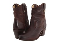 Frye Jackie Button Short Chocolate Soft Vintage Leather Women's Dress Pull On Boots Brown
