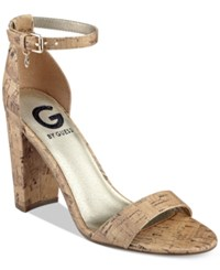 G By Guess Shantel Two Piece Sandals Women's Shoes Natural Cork