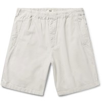 Folk The Assembly Garment Dyed Cotton Ripstop Shorts Stone