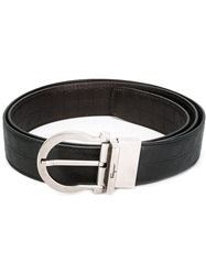 Salvatore Ferragamo Gancio Buckle Belt Black