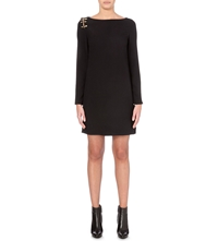 Versus Safety Pin Crepe Dress Black