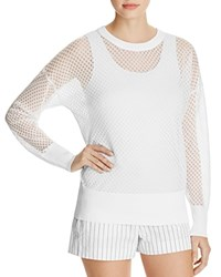 Dkny Sheer Polka Dot Sweater White