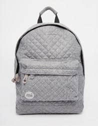 Mi Pac Quilted Backpack In Gray Charcoal