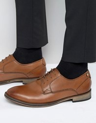 Frank Wright Merton Oxford Shoes In Tan Leather Tan