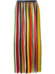 Dsquared2 Pleated Maxi Dress Yellow And Orange