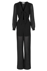 Sheer Jumpsuit By Wyldr Black