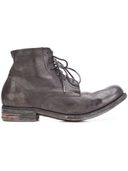 A Diciannoveventitre Mid Peaked Vamp Boots Black