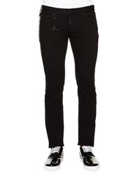 Dsquared Slim Fit Denim Jeans With Chain Black