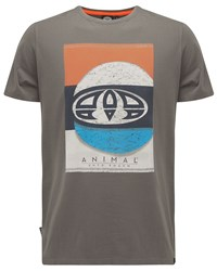 Animal Graphic Tee Grey