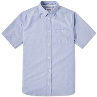 Norse Projects Anton Oxford Short Sleeve Shirt Blue