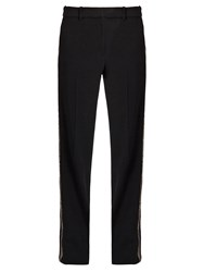 Vanessa Bruno Girel Sequin Embellished Crepe Trousers Black