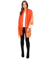 Love Quotes Travel Weight Cashmere Dip Dye Scarf Terra Picante Scarves Orange