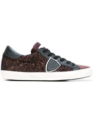 Philippe Model Logo Patch Sneakers Pink And Purple