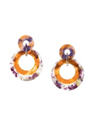 Lele Sadoughi Marble Drop Earrings Multicolour