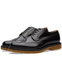 Dries Van Noten Crepe Sole Brogue Black