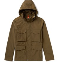 Paul Smith Ps By Cotton Blend Hooded Field Jacket Green
