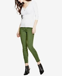 Guess Athletic Jeggings Military Green Overdye Wash