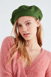 Urban Outfitters Knit Beret Olive