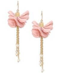 Inc International Concepts M. Haskell For Gold Tone Imitation Pearl Flower Drop Earrings Only At Macy's Blush
