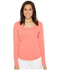 Lilla P Long Sleeve Scoop Neck Punch Women's Clothing Pink