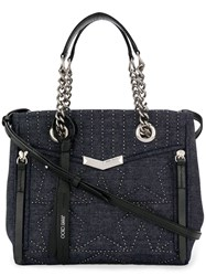 Jimmy Choo Small Helia Shopper Tote Blue