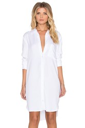 Wayf Shirt Dress White