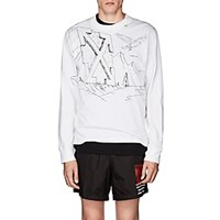 Off White C O Virgil Abloh Sketch Graphic Jersey Long Sleeve T Shirt White