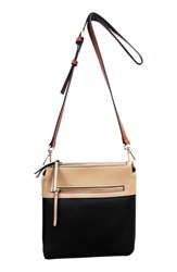 Sondra Roberts Colorblock Faux Leather Crossbody Bag Black Multi Combo