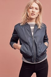 Anthropologie Journey Bomber Dark Turquoise