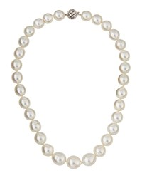 Belpearl 14K Graduated White South Sea Pearl Drop Necklace Women's