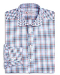 Turnbull And Asser Multi Color Grid Check Classic Fit Dress Shirt