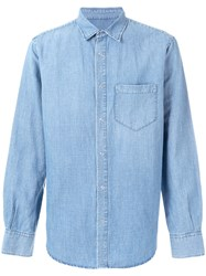Ermanno Scervino Chambray Casual Shirt Blue