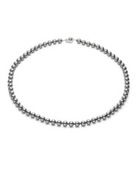 Nadri 8Mm Simulated Faux Pearl Strand Necklace 22 In. Silver