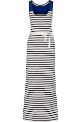 Petit Bateau Striped Cotton Maxi Dress Blue