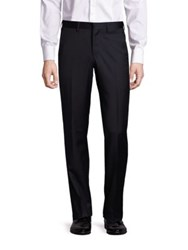 Emporio Armani Straight Leg Virgin Wool Tuxedo Dress Pants Black