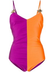 Fausto Puglisi Colour Block Embellished Swimsuit 60