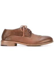 Marsell Classic Lace Up Shoes Women Calf Leather Leather Rubber 38 Brown