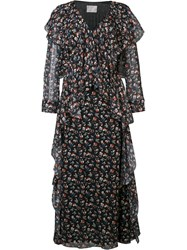 Jason Wu Floral Sheer Dress Black