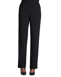 Caroline Rose Stretch Gabardine Travel Pants Petite Black