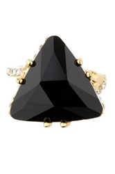 Boy Meets Girl Black Triangle Cocktail Ring No Color
