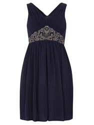 Dorothy Perkins Showcase Embellished Prom Dress Navy