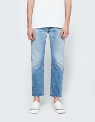 Re Done Slim Straight Cropped Blue