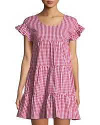 Romeo And Juliet Couture Gingham Tiered Mini Dress